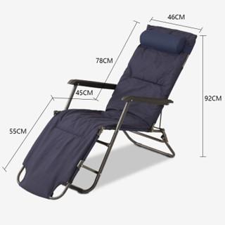 双鑫达 折叠床 躺椅折叠椅沙滩椅单人午睡午休床陪护床 含棉垫 T-021 床椅两用