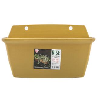 IRIS 爱丽思 RISE壁挂花盆350黄 环保树脂花盆