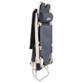 凯速 午休折叠椅床 陪护床 单人午睡折叠床 户外躺椅  (单方管47cm宽+带棉垫) FC33灰色