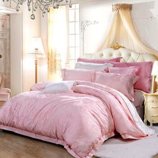 FUANNA 富安娜 欧式提花四件套 罗纳河上的星夜-粉色 1.5米床