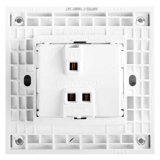 飞雕(FEIDIAO)开关插座面板 单开双控开关 一开双控电源墙壁开关面板 86型A6维方雅白