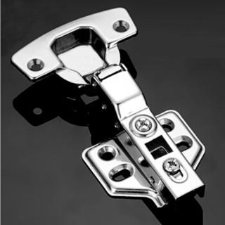 雨花泽(Yuhuaze)不锈钢脱卸式铰链6只装 液压缓冲阻尼橱柜衣柜门飞机合页轴承半盖=中弯