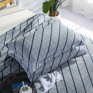 迎馨家纺 全棉斜纹床品三件套 风尚流年A版 1.8米床