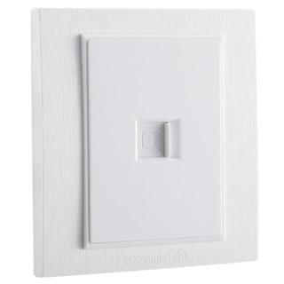 FEIDIAO 飞雕 k3拉丝白 电脑网线插座(超五类)面板
