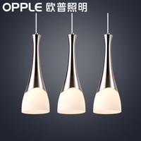 OPPLE 欧普照明 卧室三头吸顶吊线创意吧台灯 醉清风