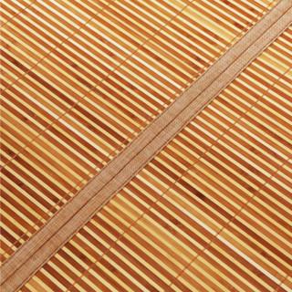 九洲鹿 碳化双面水磨竹席 黑明珠 120*195cm