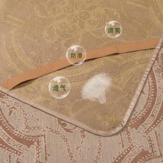 FUANNA 富安娜 冰丝提花席三件套 雅顿-咖色 1.5米床