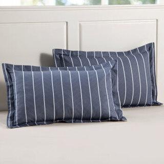 九洲鹿家纺 全棉枕套 高支高密斜纹枕头套枕芯套 悠闲时光 一对装(2个) 48x74cm