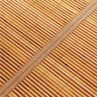 九洲鹿 碳化双面水磨竹席 黑明珠 150*195cm