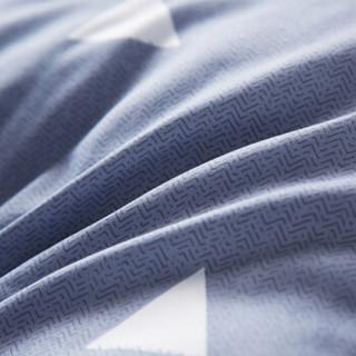 九洲鹿 床垫家纺 榻榻米加厚折叠防滑双人床褥子垫被 立体舒适印花羽丝绒床垫子 思绪 180*200cm
