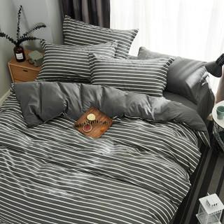 简丽(janlee)床上四件套纯棉 夏季全棉斜纹双人套件床单被单被罩枕套1.5/1.8米床(被套200*230)夜华
