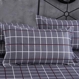 九洲鹿 枕套家纺 全棉枕套 纹枕头套枕芯套 索菲格 一对装 48*74cm