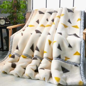 九洲鹿 双层加厚拉舍尔毛毯 千罗万象 200*230cm-6.6斤