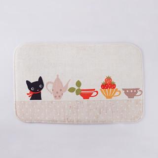 九洲鹿 法莱绒地垫 猫的厨房 40*60cm