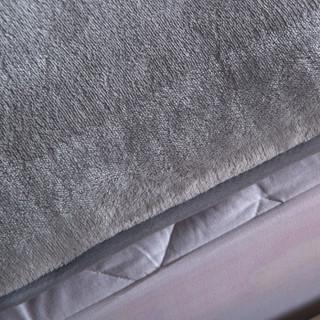 九洲鹿 法莱绒床垫 烟灰色 180*200cm