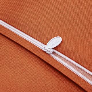LUOLAI 罗莱 WA5017-4 全棉细纹磨毛四件套 奥丽莎花园-橙 1.5米床