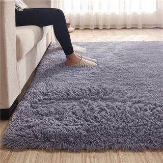 九洲鹿 长绒地毯 灰色 70*160cm
