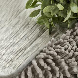 九洲鹿 细纤维地毯 灰色 50*80cm