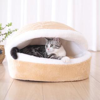 华元宠具(hoopet)猫窝可拆洗封闭式猫睡袋猫垫子春夏宠物窝S