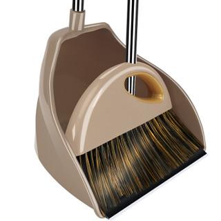 快乐猫 C1 不锈钢扫帚簸箕套装组合 大号笤帚 1套
