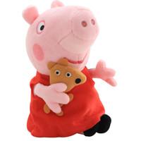 Peppa Pig 小猪佩奇 毛绒玩具 小猪佩奇抱小熊 30cm