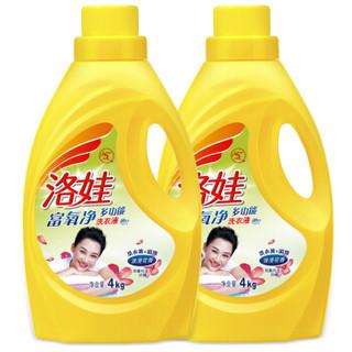 洛娃 多功能洗衣液 4kg*2瓶