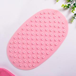 贝瑟斯 婴儿浴室浴盆保护垫儿童洗澡卫浴垫宝宝无味吸盘脚垫硅胶地垫淋浴防滑垫 42*25cm 粉色