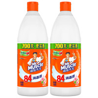 Mr Muscle 威猛先生 84消毒液 清新花香 700g*2瓶装