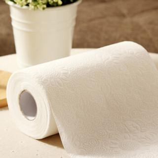 欧润哲 擦手纸 65节浴室清洁厨房吸水吸油用纸卷纸纸巾 12卷装