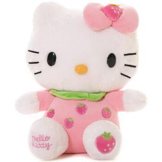 Hello Kitty 凯蒂猫 毛绒玩具 水果系列 草莓粉色 *5件
