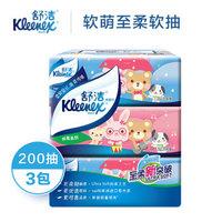 Kleenex 舒洁 卡通软抽抽纸 200抽*3包