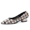 Luiza Barcelos 女士格纹布尖头方跟鞋 223.44元