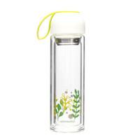 LOCK&LOCK 乐扣乐扣 LLG654 多彩玻璃杯 白色 350ml