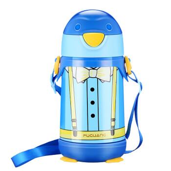 富光 小Q系列 WFZ1051-320 儿童不锈钢保温杯 蓝色 320ml