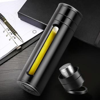 富光 WFS1030-380 玻璃水杯 黑色 380ml