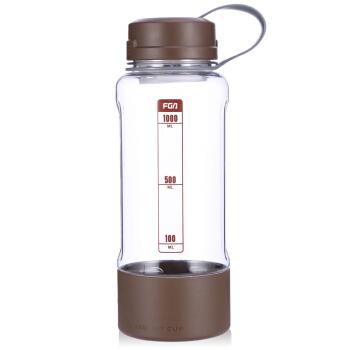 FUGUANG 富光 塑料杯 大容量 咖啡色 1L