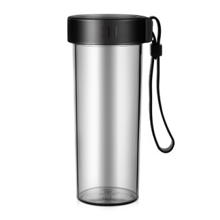 富光 WFS1013-380 塑料水杯 酷炫黑 380ml
