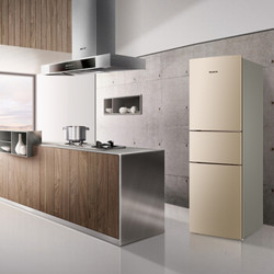 美菱 219升 三门冰箱 小型风冷无霜 电脑控温 家用节能