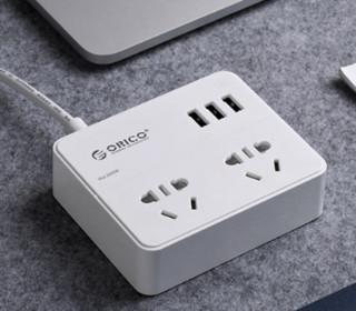奥睿科(ORICO) EPC-2A3U USB智能插排桌面插线板