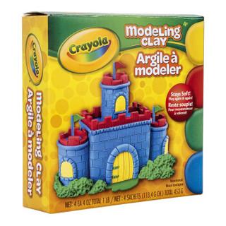 Crayola 绘儿乐 绘画工具 diy玩具 4色造型黏土(经典色) 57-0300