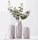 北欧家居装饰品陶瓷花瓶摆件  大理石纹几何花瓶花艺 石纹几何款(单花瓶)大号