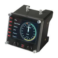 logitech 罗技 Logitech 罗技 Flight Instrument Panel专用多仪表 LCD 面板模拟控制器