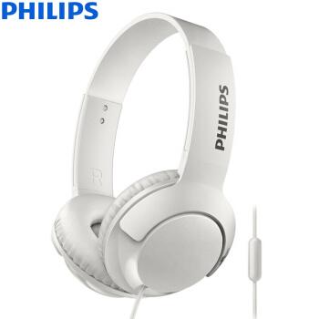 PHILIPS 飞利浦 Bass+ SHL3075 头戴式耳机 白色
