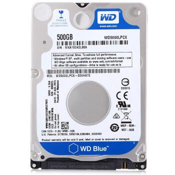 WD 西部数据 蓝盘 笔记本硬盘 500GB 16MB 5400rpm WD5000LPCX