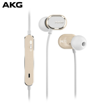 AKG 爱科技 N25 双动圈入耳式耳机 香槟金