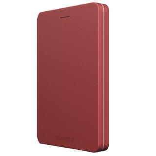 TOSHIBA 东芝 Alumy系列 1TB 2.5英寸 USB3.0移动硬盘 经典红