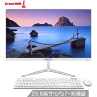 Great Wall 长城 A2403 23.8英寸 一体机 (i7-7700、8G、240G+1000G)
