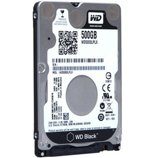 WD 西部数据 黑盘 WD5000LPLX SATA 笔记本硬盘 500GB