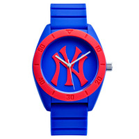 MLB 美国职棒大联盟 MLB-D5003-6 时尚运动情侣石英表(蓝红蓝) 防水