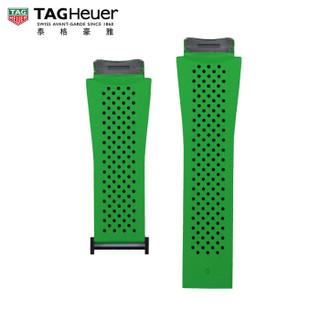 TAG Heuer 泰格豪雅 2FT6083 智能腕表绿色橡胶表带 适配PVD黑钛合金表扣 45毫米